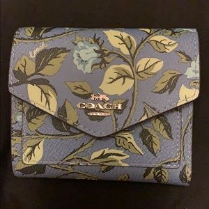 Small Sleeping Rose Coach Wallet